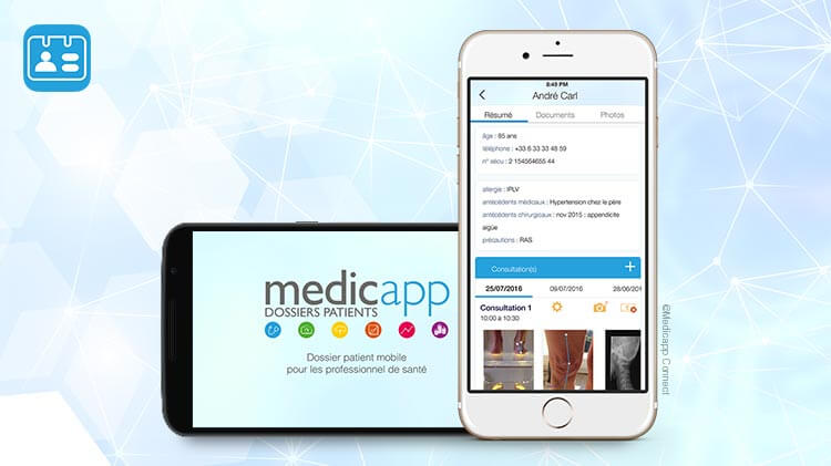 mobile design : application médicale sur iPhone